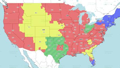 NFL Week 3 TV coverage maps