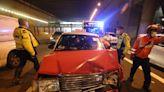 藍田的士撞警車 6人受傷包括3警員