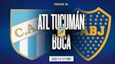 Atlético Tucumán - Boca: hora, formaciones y TV