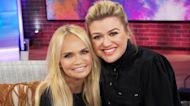 Kristin Chenoweth And Kelly Clarkson Can't Stop Breaking Into Song During Their Interview