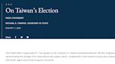 蓬佩奧發聲明賀蔡英文:台灣展示生機勃勃民主制度力量