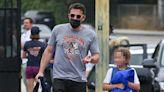 Jennifer Lopez Glows Leaving Ben Affleck's House As He Takes Son Samuel, 9, To Swim Lessons
