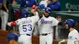 Garcia hits 30th HR, Texas beats Astros in Greinke's return