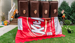 KIT KAT Made a Group Costume with an Exit Plan