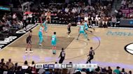 Kevin Durant with an assist vs the Charlotte Hornets