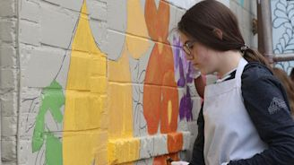 Art Alley Effort: Chadron's first mural completed