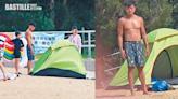 黃浩然去沙灘享受家庭樂 遇一號波面燶睇實囝囝同帳幕 | 娛圈事