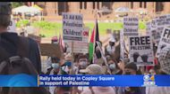 Rally Held In Copley Square In Support Of Palestine