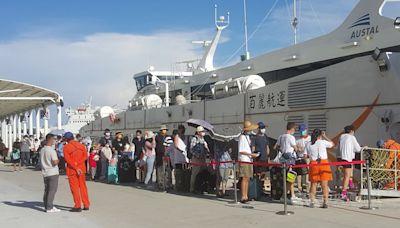 中秋節連假尾聲 澎湖機場與港口再現人潮