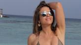 At 56, Elizabeth Hurley's Toned Abs Rule The Beach In A New Bikini Pic