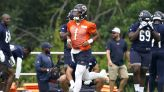 WATCH: Justin Fields goes through drills at Bears training camp