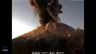Popocatepetl Volcano Erupts, Sending Ash Plume Into Mexico Sky