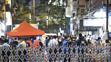 【圖片新聞】今再突襲封區 尖沙咀華源大廈須強檢