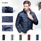 【Incare】男款修身立領輕羽絨外套-5色可選(贈收納袋)