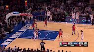 Mitchell Robinson with a dunk vs the Philadelphia 76ers