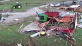 Severe weather outbreak leaves trail of damage across 3 states
