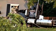 2 dogs, no driver found in tractor-trailer that crashed into Braintree home, neighbor says