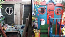 Grandparents build incredible hobbit shed using £2.99 charity shop bargains