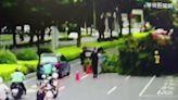 台南清晨局部大雨 轎車路滑打轉撞護欄