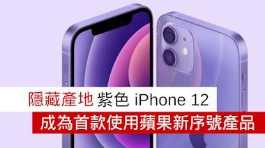 隱藏產地 紫色 iPhone 12 成為首款使用蘋果新序號產品 - 流動日報