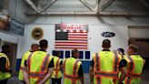 Blue Angels descend on Dearborn Truck Plant to visit workers, gather intel