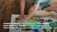 Mom's mess-free finger paint hack causes unexpected controversy on TikTok