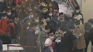 高鐵西九龍站檢查健康申報表大排長龍