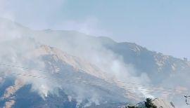 Smoke Rises From Alisal Fire Burning in Santa Barbara County