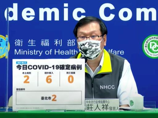 今增2例本土皆在台北 仍在疫調中