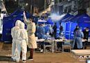 【圖片新聞】防疫人員進駐油麻地東安街 準備區域檢測