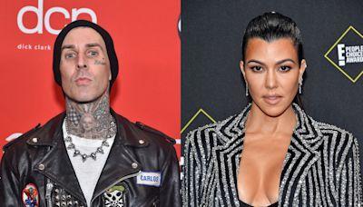 Kourtney Kardashian Just Tattooed Travis Barker Herself to Show Her Love, Which, Wow
