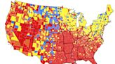CDC: Color-coded map shows where Americans need to wear masks again, and where you can go maskless, outside of schools