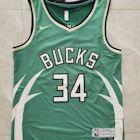 小R運動館NBA 2021密爾瓦基公鹿BUCKS隊季後賽獎勵版球衣 籃球服 支持個性定製籃球服 運動澤西