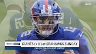 What are the odds Colt McCoy, Giants beat the Seahawks Week 13?