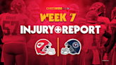Final injury report for Chiefs vs. Titans, Week 7