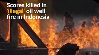 Scores injured and many killed in 'illegal' Indonesian oil well fire