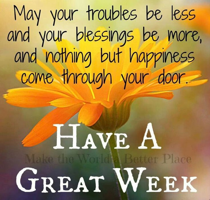 Have a Great Week....