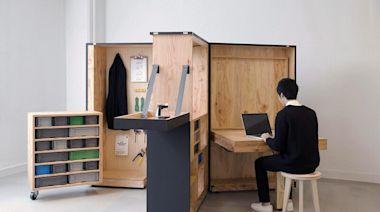 在家沒地方工作?日本推出居家辦公神器「行動辦公室」,免費設計圖下載,讓大家自己動手DIY
