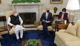 Biden welcomes India's Modi to the White House