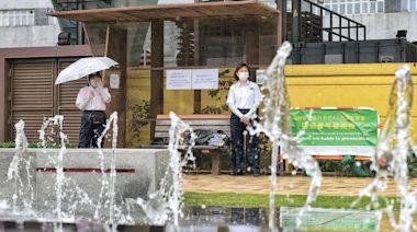 【Emily】觀塘噴泉重開 豎告示駐保安 提醒污染池水可被控 - 20210504 - 港聞