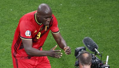 The Latest: Lukaku delivers message to Eriksen at Euro 2020