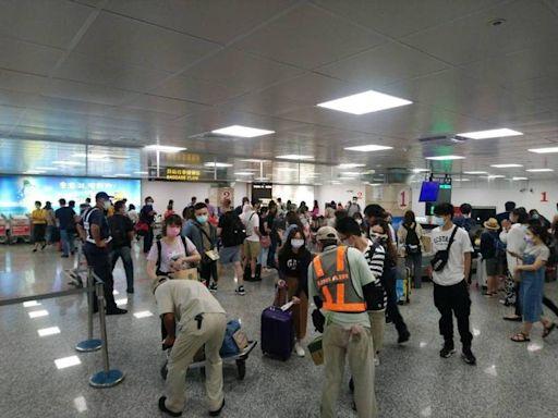 中秋連續假期澎湖機場再現人潮 雙向載客率達9成以上