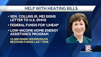Sen. Collins ask for funding to help Mainers pay heating bills