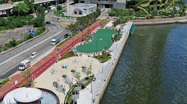 荃灣海濱單車徑全面開通 單車大使在場協助市民