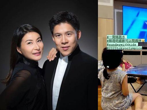 東京奧運︱霍啟剛與女女睇跳水曝光家中客廳:睇唔明可以問媽咪