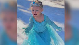 A 2-year-old 'Frozen' fan enjoyed her first snowfall by perfectly reenacting 'Let It Go'