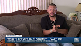 Valley man quits job after customers harassed him over his hearing disability