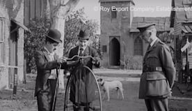 Charlie Chaplin tries to ride a penny-farthing bicycle | The Kid Should See This