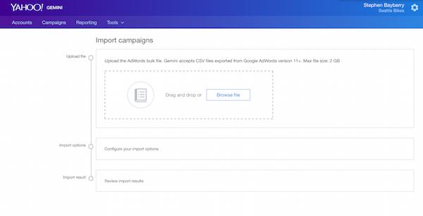 AdWords import tool
