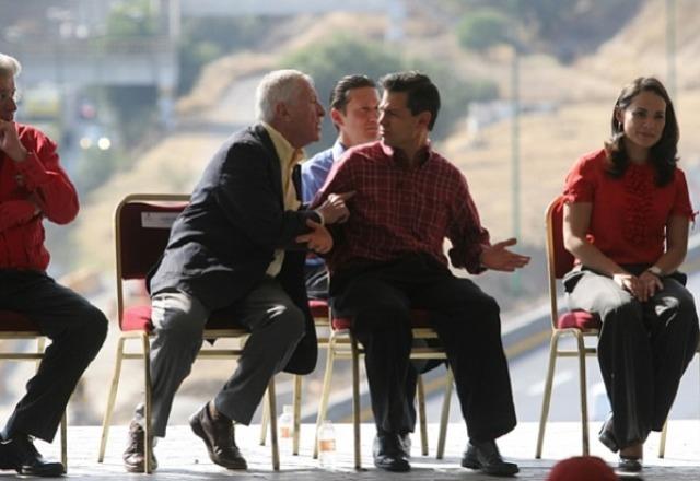 ¿Filtran imagen de Peña siendo amenazado por uno de sus patrones (de la empresa española OHL)?